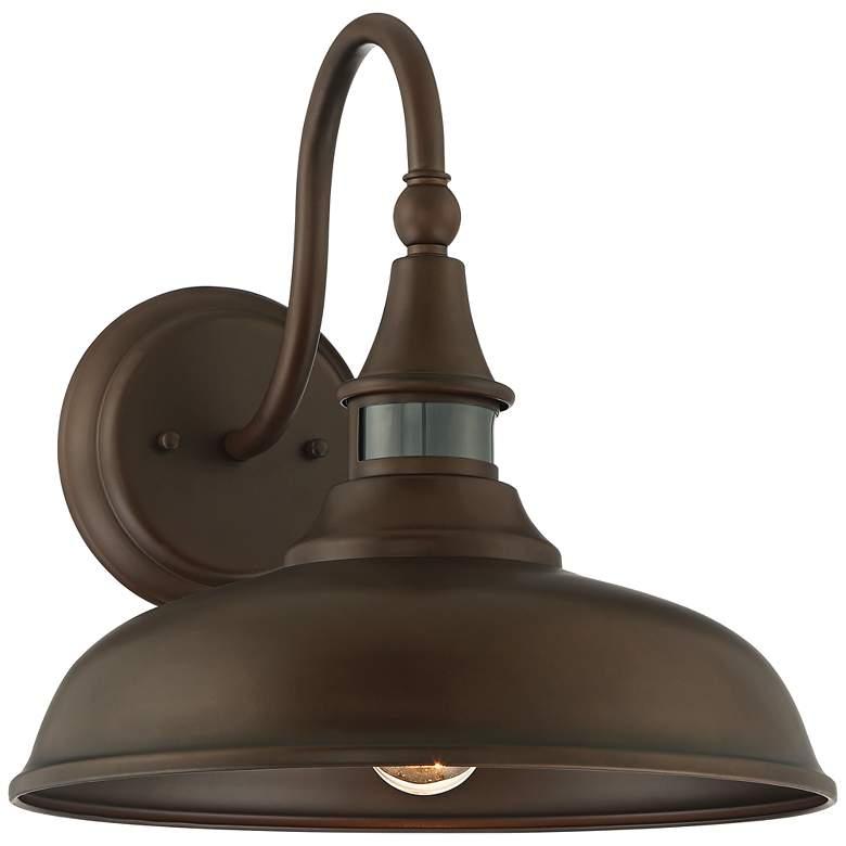 """Gough 12 1/2"""" High Bronze Motion Sensor Outdoor Wall Light"""