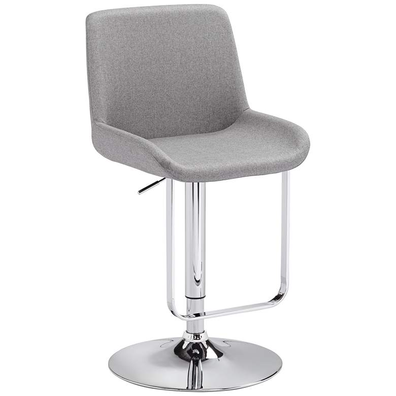 Vanguard Gray Adjustable Barstool with Hanging Footrest