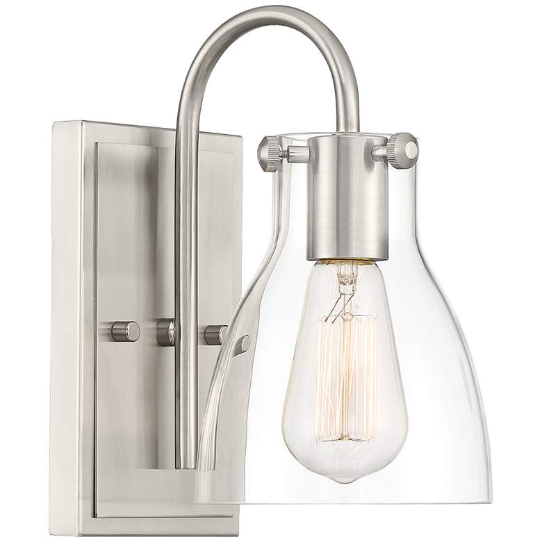 """Cyn 10"""" High Brushed Nickel and Clear Glass"""