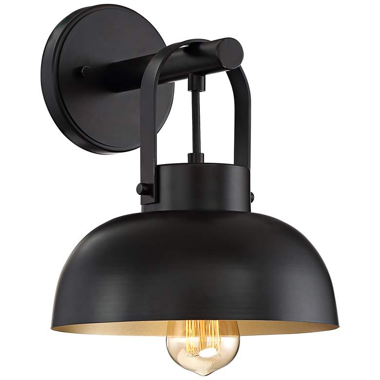 """Mather 11"""" High Bronze Metal Dome Wall Sconce"""