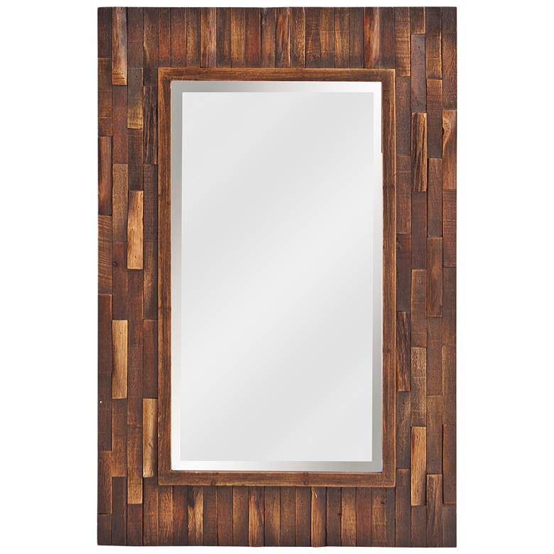 "Howard Elliott Forrest Distressed Wood 24"" x 36"" Wall Mirror"