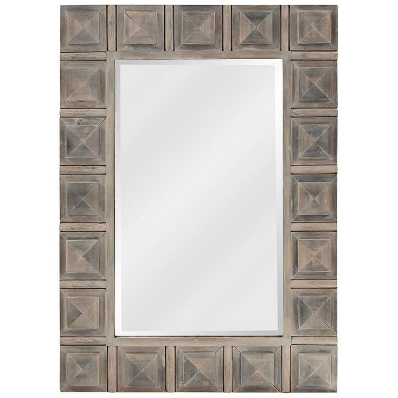 "Howard Elliott Dakota Rustic Gray 30"" x 42"" Wall Mirror"