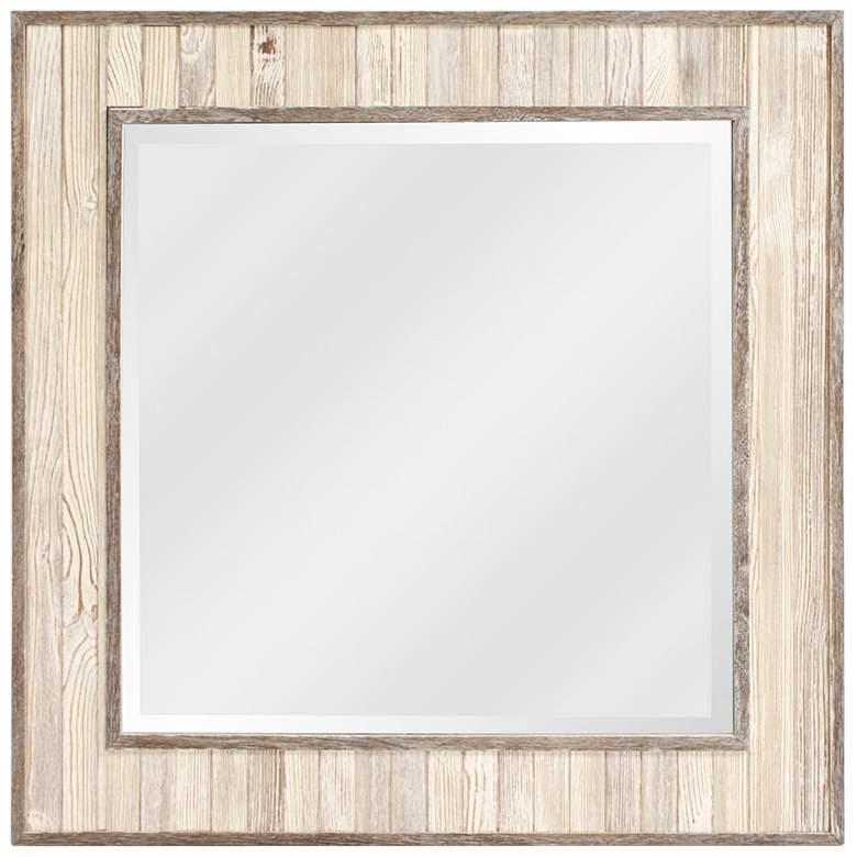 "Howard Elliott Sawyer Wood Plank 31 1/2"" Square Wall Mirror"