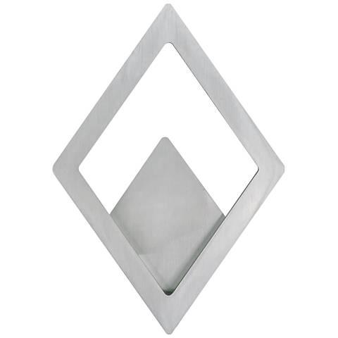 "ET2 Alumilux 14 1/4""H Satin Aluminum LED Outdoor Wall Light"