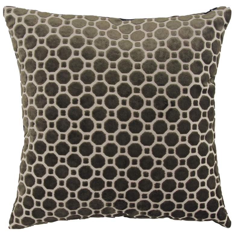 "Black and White Fabric 18"" Square Decorative Pillow"