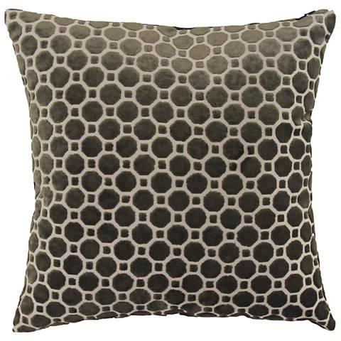 "Black and White Fabric 18"" Square Decorative Pillow"