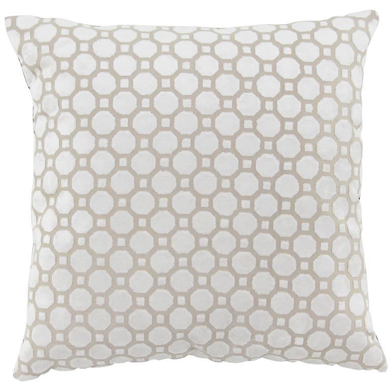 """White Fabric 18"""" Square Decorative Pillow"""
