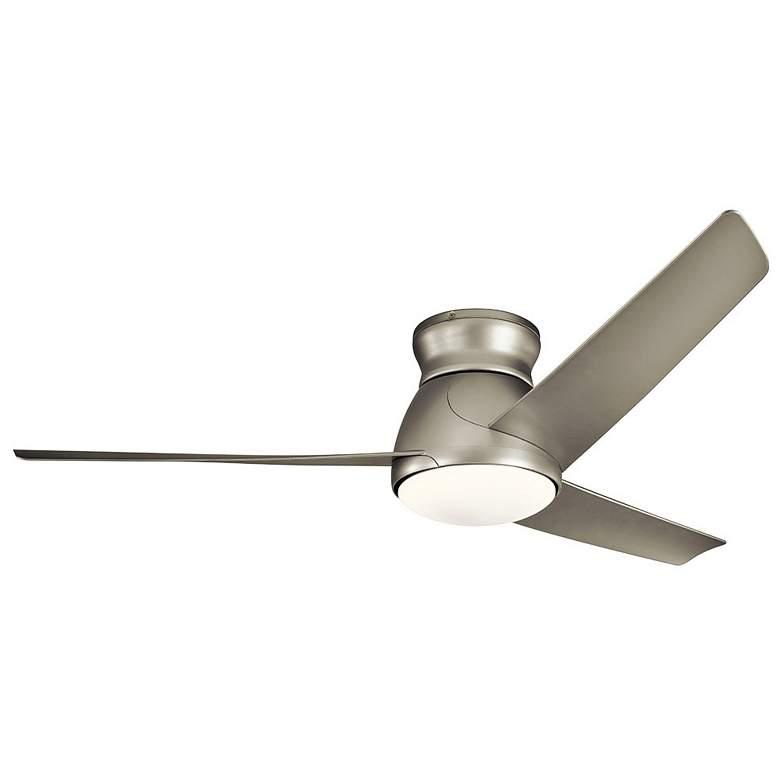 "60"" Kichler Eris Brushed Nickel LED Hugger Ceiling Fan"