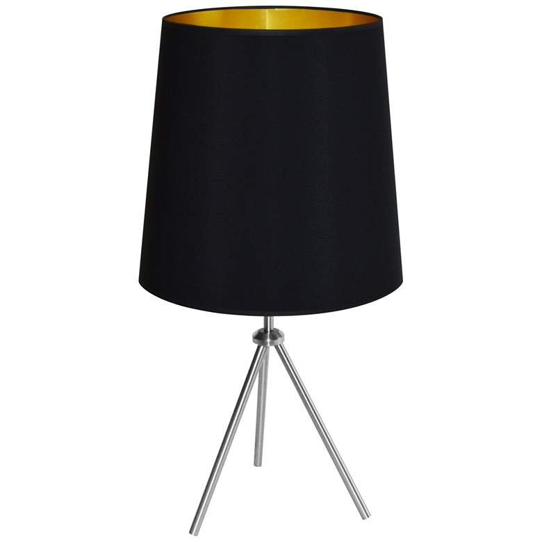 """Finesse 28 1/2"""" High Chrome Table Lamp with"""
