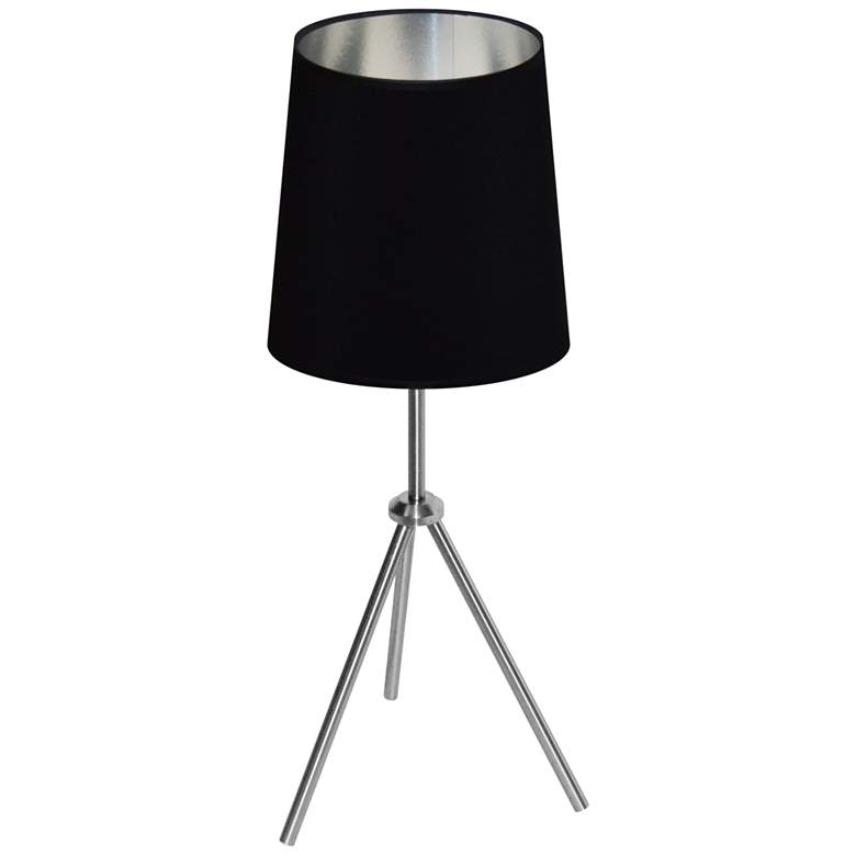 "Finesse 30"" High Chrome Table Lamp with Black-Silver"