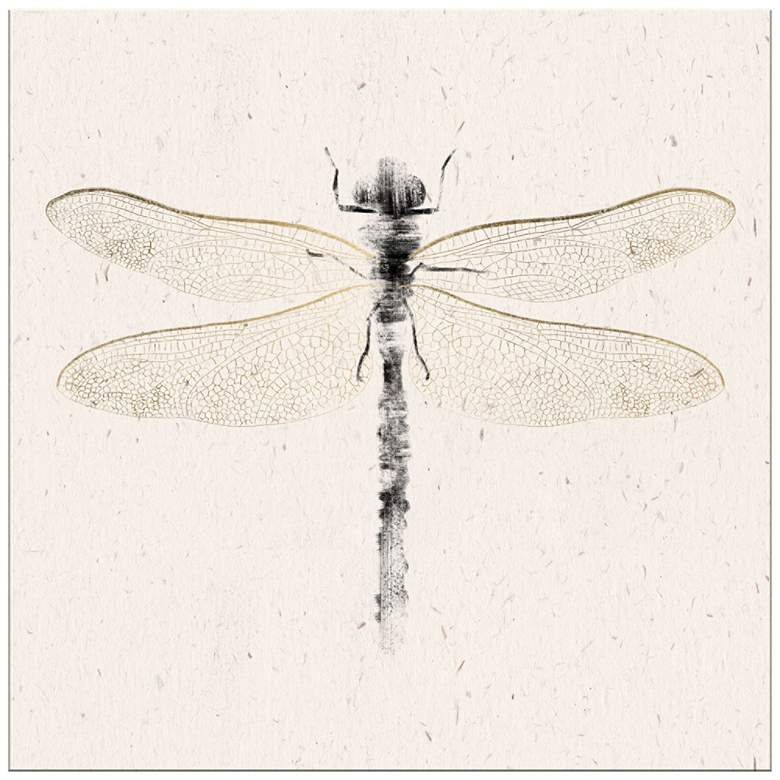 """DragonFly 20"""" Square Giclee Canvas Wall Art"""