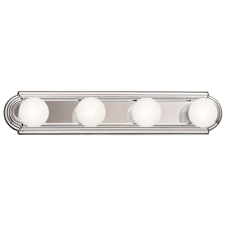 "Kichler McGuire 24"" Wide Chrome 4-Light Linear Bath Light"