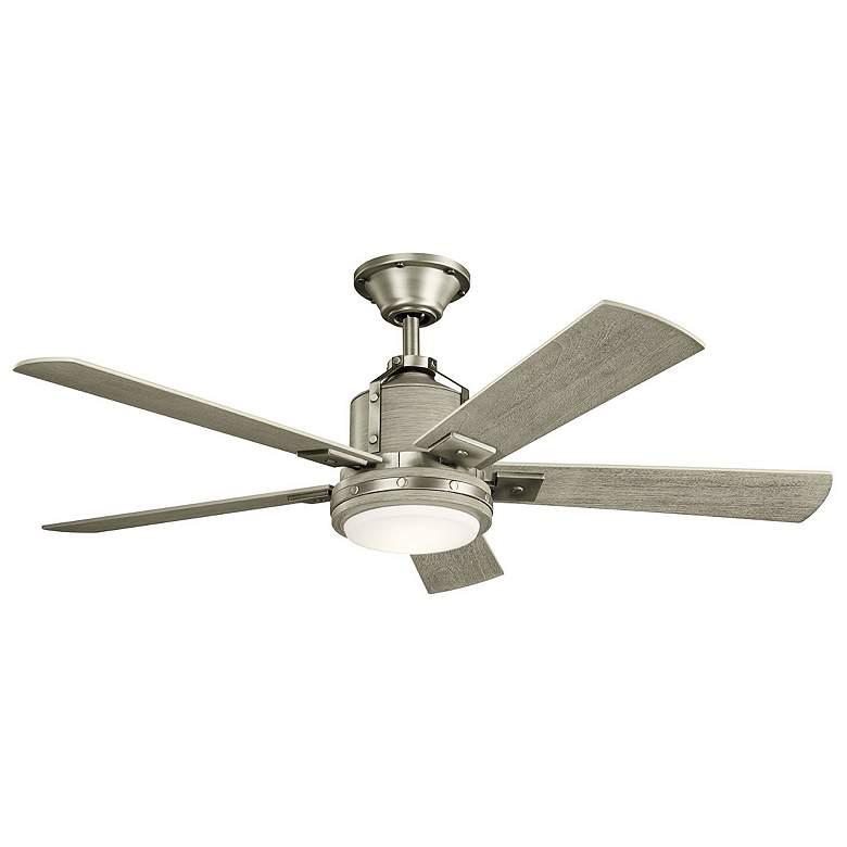 """52"""" Kichler Colerne Brushed Nickel LED Ceiling Fan"""