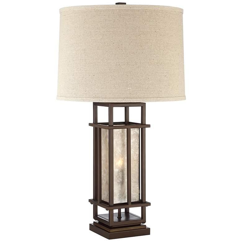 Matthew Brown Metal Table Lamp with LED Night Light