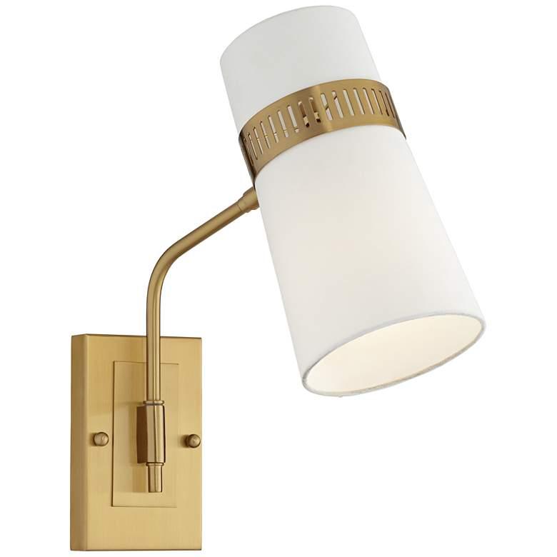 Cartwright Warm Antique Brass Hardwire Wall Lamp