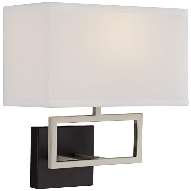 Trixie Brushed Steel Rectangle Hardwire Wall Lamp