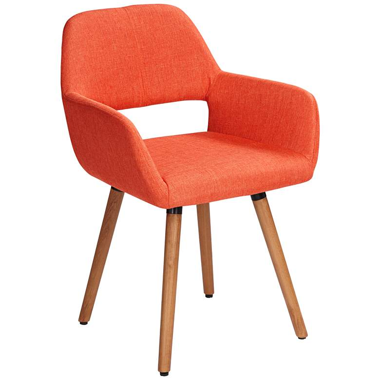 Nelson Orange Fabric Dining Chair