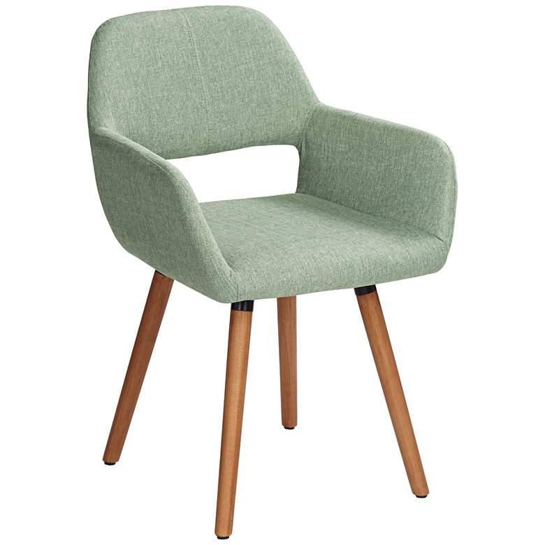 Nelson Sea Foam Green Fabric Dining Chair