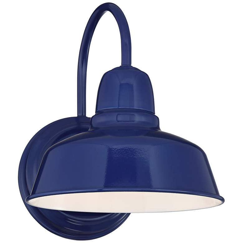 "Urban Barn 11 1/4"" High Blue Indoor-Outdoor Wall Light"
