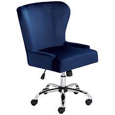 Erin Blue Fabric Office Chair