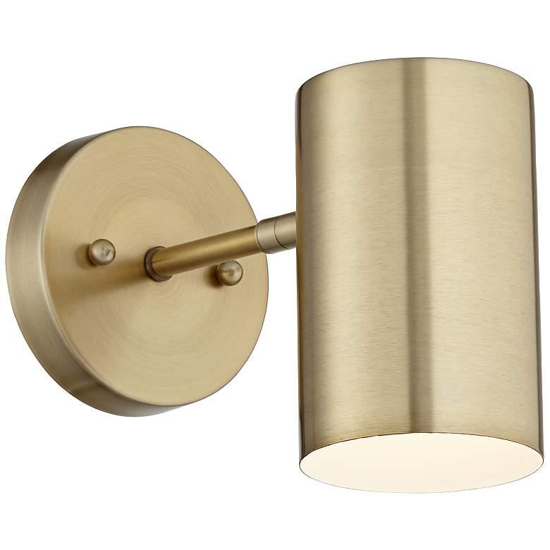 Carla Polished Brass Down-Light Hardwire Wall Lamp