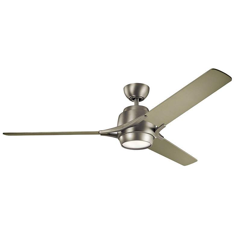 "60"" Kichler Zeus Brushed Nickel and Silver LED Ceiling Fan"