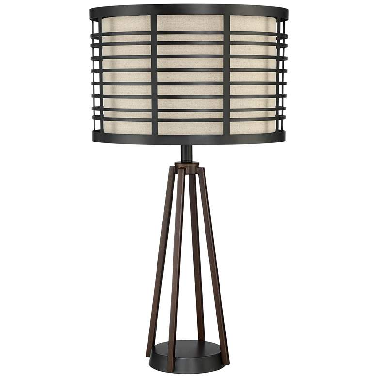 Stephan Industrial Metal Table Lamp with USB Port and Plug