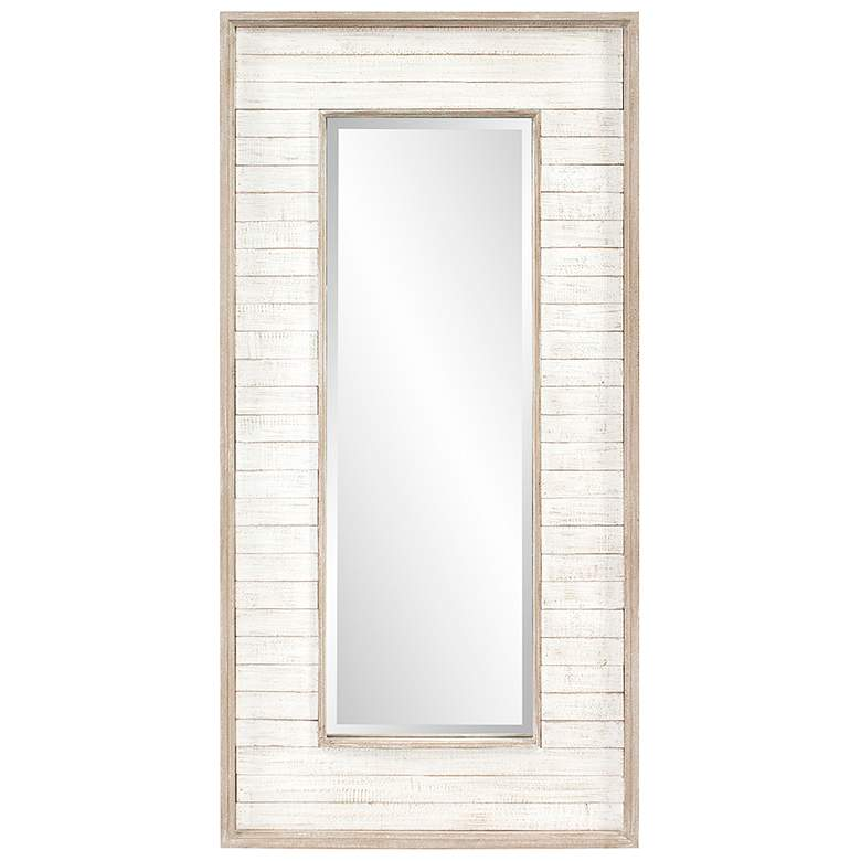 "Howard Elliott Abbey Rustic White Wash 23"" x 47"" Wall Mirror"