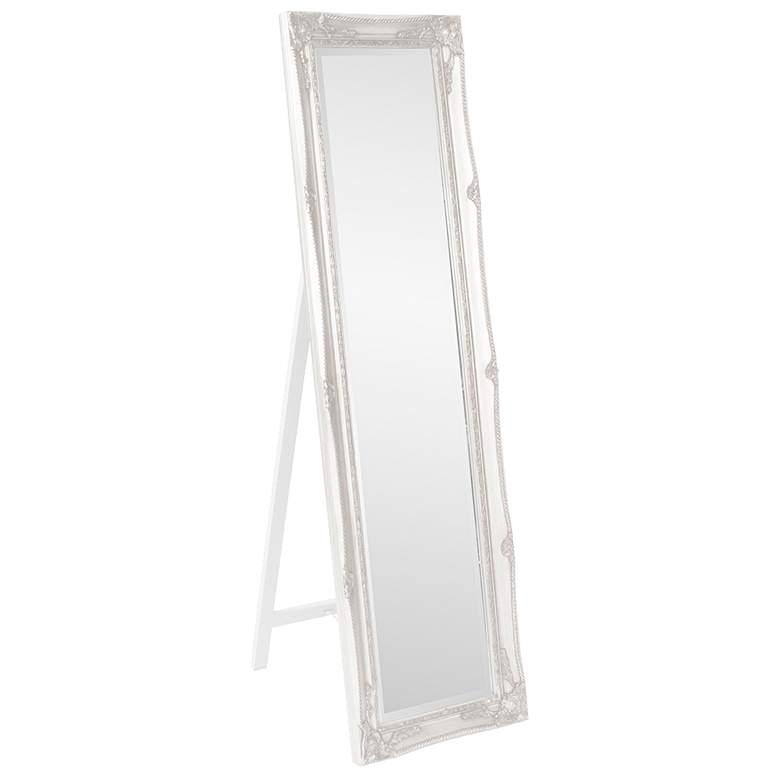 "Queen Ann Classic White 18"" x 66"" Floor Standing Mirror"