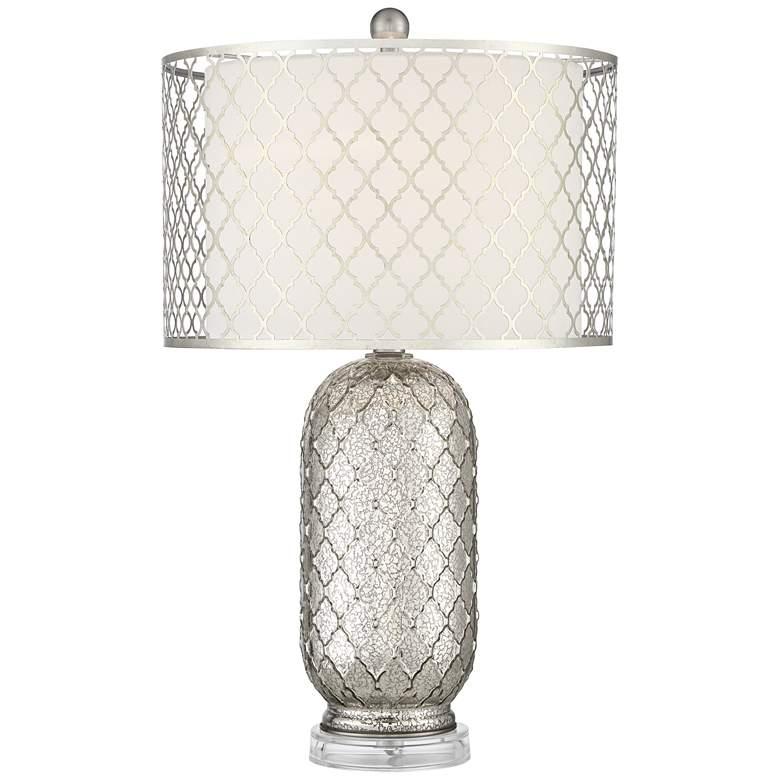 Possini Euro Jordan Mercury Glass Table Lamp