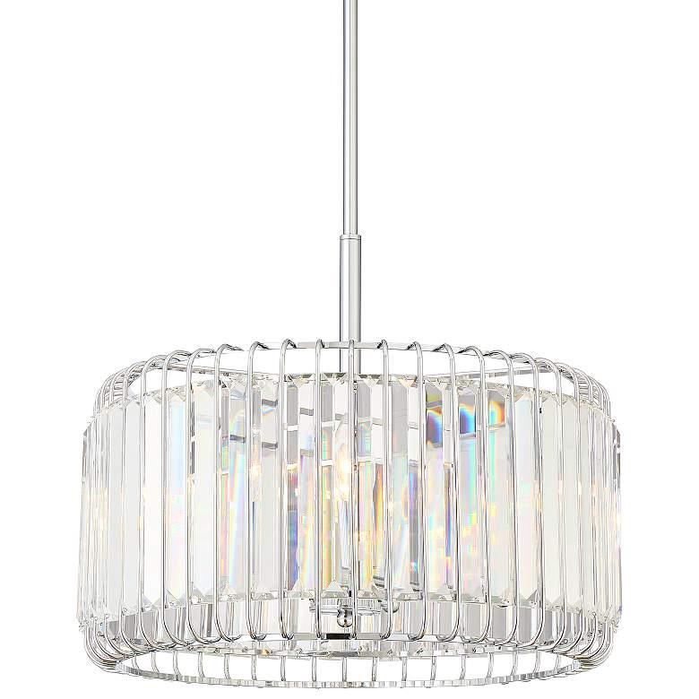 "Possini Euro Deacon 18"" Wide Crystal 4-Light Pendant"