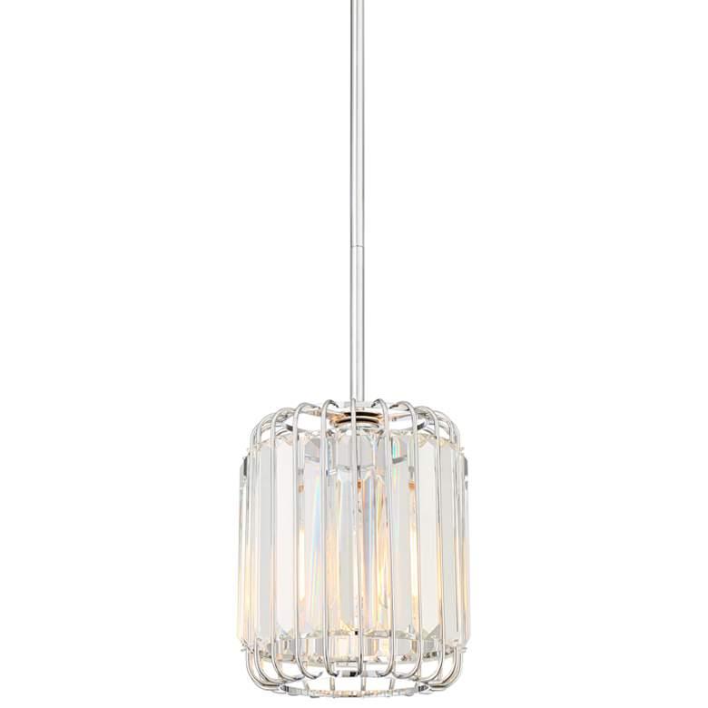 "Possini Euro Deacon 8"" Wide Crystal Mini Pendant Light"