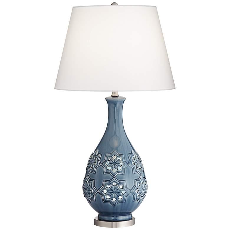 Possini Euro Stacey Ceramic LED Night Light Table Lamp