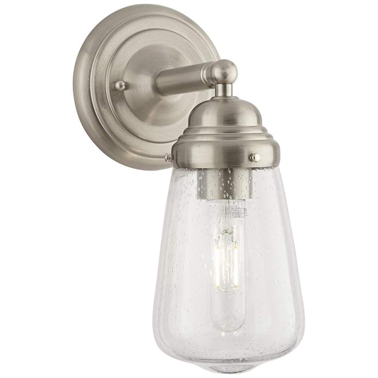 """Possini Euro Cairon 11""""H Brushed Nickel Wall Sconce"""