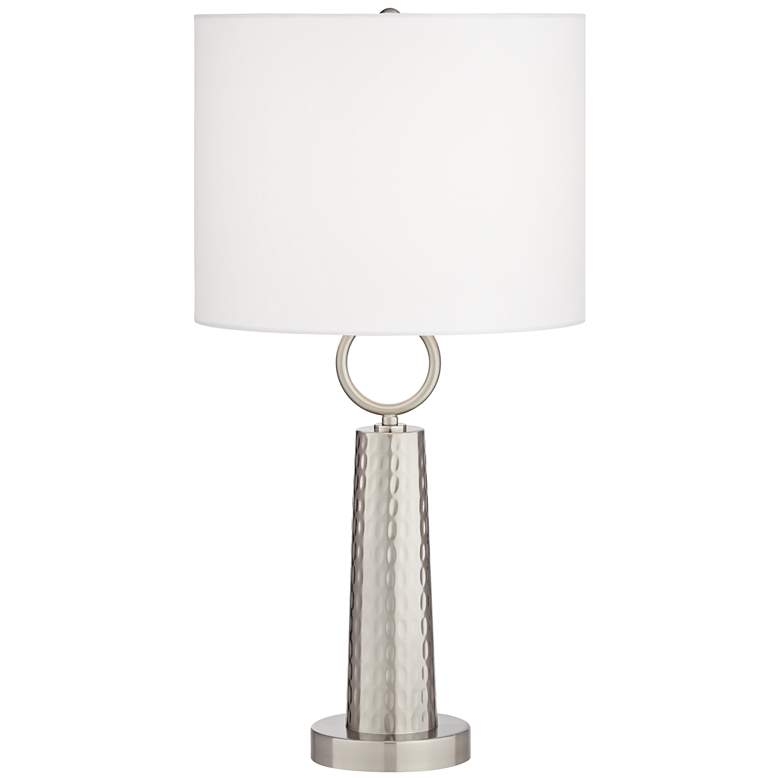 Victor Brushed Nickel Modern Accent Table Lamp