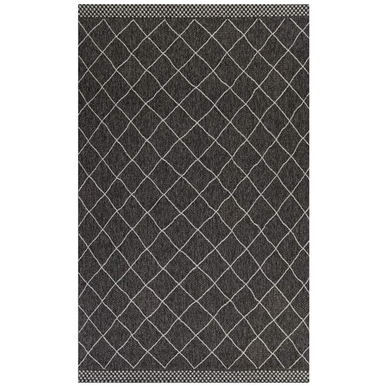 "Farmhouse 3209 5'x7'7"" Charcoal Rustico Indoor-Outdoor Rug"