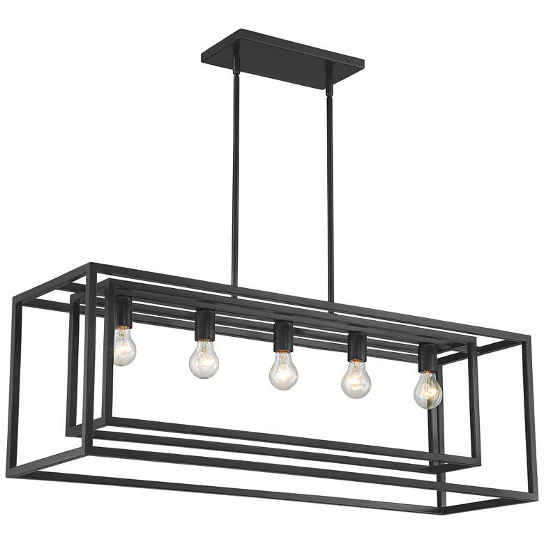 "Possini Euro Ulrich 40""W Bronze Kitchen Island Light Pendant"