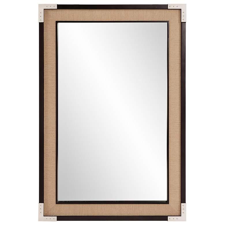"""Howard Elliott Leavitt Dark Walnut 24"""" x 36"""" Wall Mirror"""