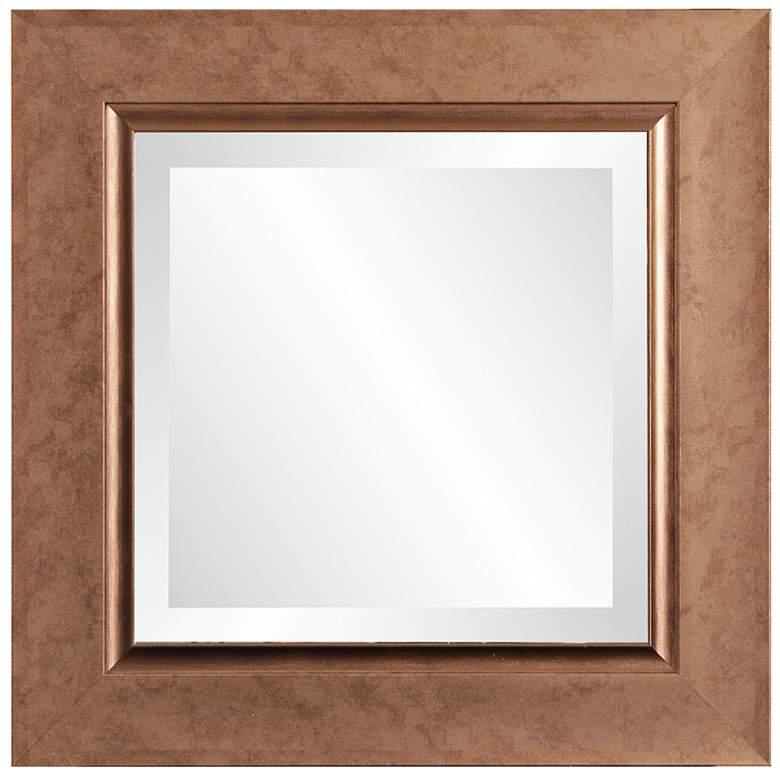 "Howard Elliott Lexington Copper 18"" Square Wall Mirror"