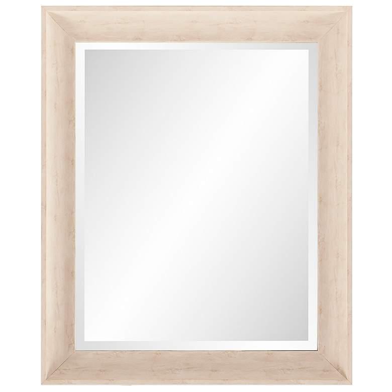 "Howard Elliott Parker Creamy White 28"" x 34"" Wall Mirror"
