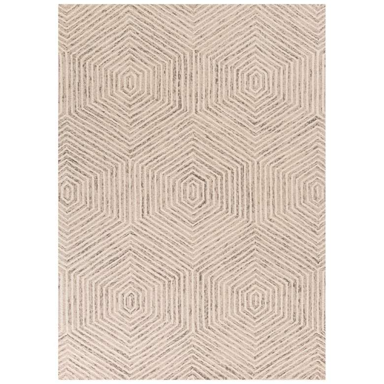 Gramercy 1607 5'x7' Ivory Honeycomb Hand-Woven Area Rug