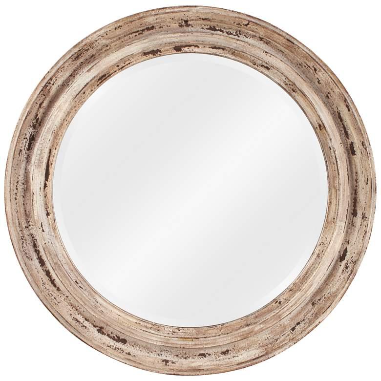 "Howard Elliott Maisey Rustic Taupe 36"" Round Wall Mirror"