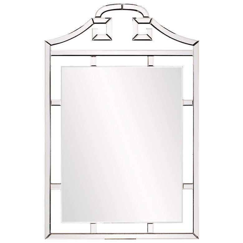 "Howard Elliott Janya 30"" x 45"" Pagoda-Esque Wall Mirror"