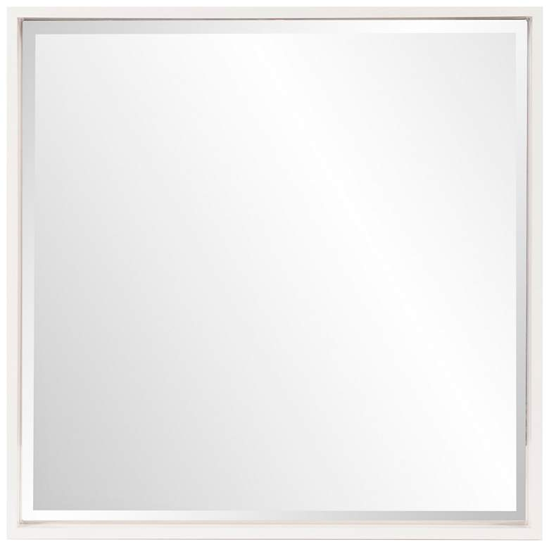 "Howard Elliott Isa White Lacquer 40"" Square Wall"