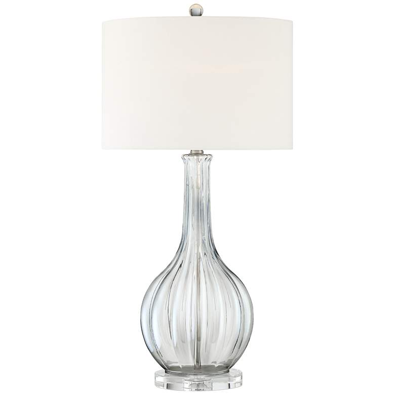 Kate Ribbed Glass Gourd Table Lamp