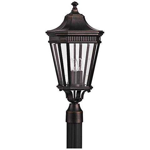 "Cotswold Lane 22 1/2""H Grecian Bronze Outdoor Post Light"