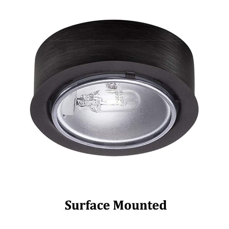 "WAC Xenon 2.63"" Wide Round Black Button Under Cabinet Light"