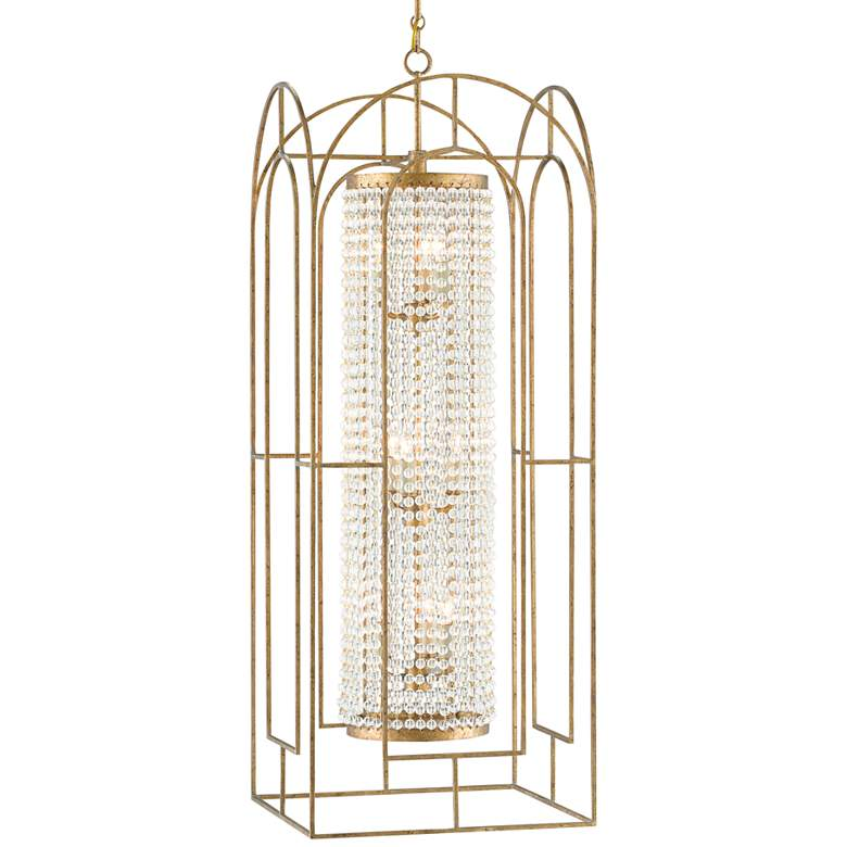 """Elspeth 16"""" Wide French Gold and Crystal Chandelier"""