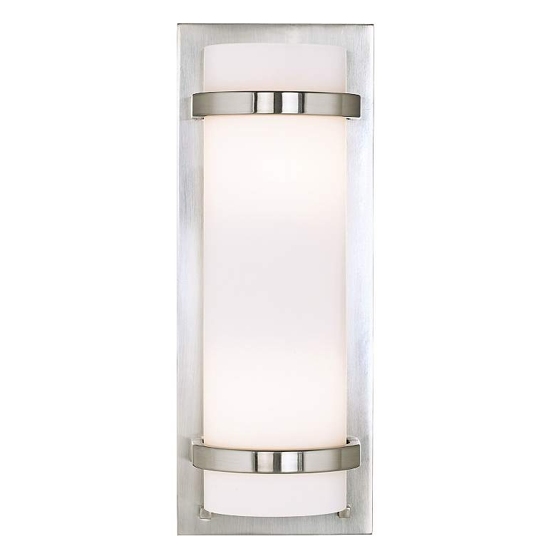 """Minka Lavery Contemporary 17""""H Brushed Nickel Wall Sconce"""