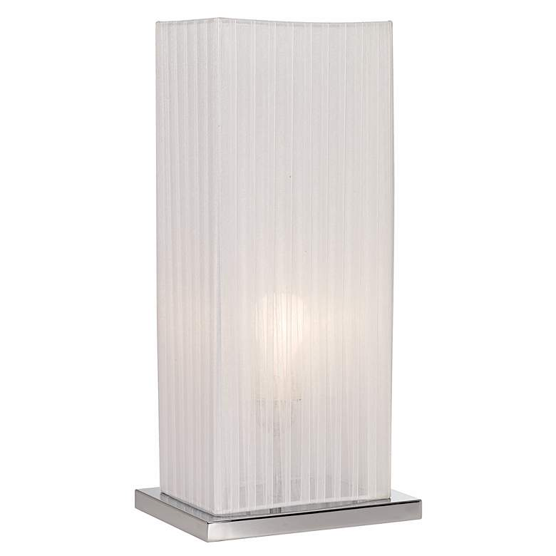 """Cube Ribbon Shade 19 3/4"""" High Accent Table Lamp"""